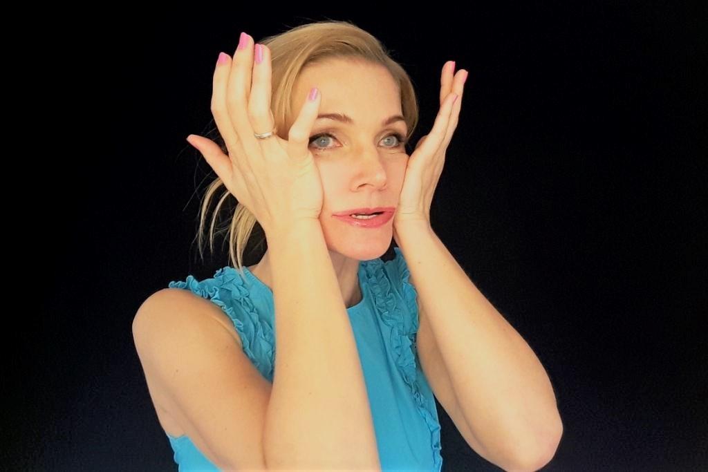 Gesichtsyoga gegen Hängebächcken