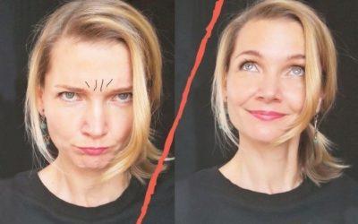 Stirn entspannen, Zornesfalten reduzieren: Gesichtsmassage
